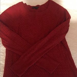 American Eagle Knit Red Sweater (S)